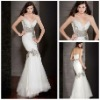 Terrific 2012 Strapless Beaded Mermaid Evening Gowns