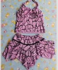 Sweet Style Casual Halter Swimwear Purple ZJ12061203-2