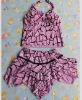 Sweet Style Casual Halter Swimwear Purple ZJ12061203-2