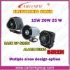 12V 6 tone police car alarm siren
