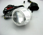 KY Motorcycle bi-xenon projector lens with colorful angel eye,with slim ballast headlight lamp