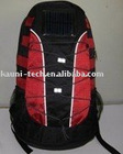 Hot solar backpack, black and red available