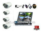 Shop Recordable Complete Kit-4Channel DVR CCTV Security System/ 4Night Vision Cameras&Remote Access