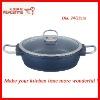2 Size Die-casting Aluminum Shallow Soup Pot