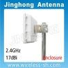2.4GHz 17dBi Enclosure Flat CPE Antenna