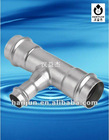 Stainless steel 90 degree elbow with plain end