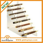 Popular Pen display holder Acrylic PP Gold -001