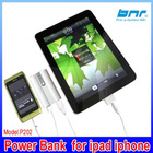 wholesale 2x 18650 smart pwoer bank for ipad ,battery emergency charger for iPhone 4 2G 3G 3GS iphone 4S iPod, portable,