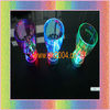 flashing plastic glass with multicolor led light 350ml press on off switch