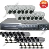 24CH CIF Realtime DVR 600TVL Camera CCTV Security System with HDMI VGA Iphone android