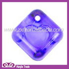 Wholesale fancy Plastic Glass Acrylic beads Hollow on the top heart shape inlay Violet 8*14mm for Necklace, Bracelet & Pendant