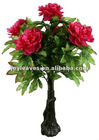 artificial tree with peony flowers