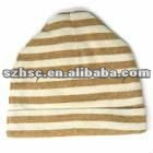 New design soft pure cotton striped baby hat