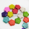Wholesale Fashion howlite color flower beads for jewelry bracelets making