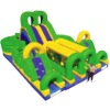 Inflatable obstacles large land air toys household jumpbed slide