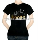 Accept your logo & printing Customized cotton t shirt Ladies T shirt