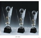 SPORTS GOLF CRYSTAL TROPHY