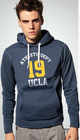 Men's autumn fashion hooded college sweater sporty jacket