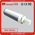 Rotatable 270degree 2835SMD 100lm/w Pure White 9W LED Plug Light HK-CF40M2-9P