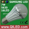 ce/rohs listed 7w e27 5500k smd5630 led bulb