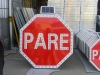 Solar parking sign PARE( with 3M reflective sign )