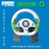 dual format10 inches video game steering wheel for XBOX360/PC