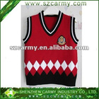 Elementary Student School Boy's or Girl's 100% Cotton Knitting Sweater Vest