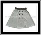 Girl's Fashion 100% Linen Yarn Dyed Skirts