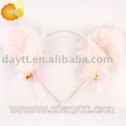 plush cat ears hair band for party or cosplay b202