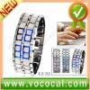 Lava Style Iron Samurai Metal Blue LED Faceless Watch