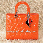 Latest designer orange real patent leather brand bags handbags fashion 2012
