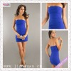 2107-1hs New Design Strapless Sexy wholesale Cheap Blue Soft Fabric cocktail dresses