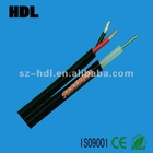 cctv coaxial cable+power /vedio cable
