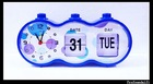 Fashion Jump Calendar Clock