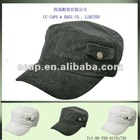 plain corduroy pocket military style army cap ccap-0612