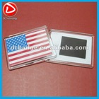 American flag Acrylic fridge magnet photo frame