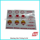 2012 clear PVC sticker decoration for decoration