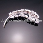 angel feather metal brooch with rhinestone ha18-19