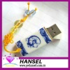 Chinese style USB flash drives with blue and white porcelain pattern