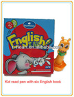 infant touch learning pen with 6 English books for learning ABC