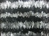 3+7MM sequin embroidery on mesh fabric