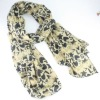 fashion silk knitted cotton lady scarf