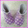 Polka dot baby boots