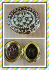 New Design Brown Vintage Print Ceramic Jewelry Box