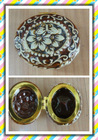 New Design Brown Vintage Print Ceramic Jewelry Box
