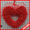 dark rd PE material wedding flowers wreath