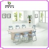 wooden triangle conference table for sales OS-015