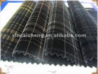embossing tricot flocking material and fabric