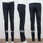 cheap fashion ladies denim jeans pants with S pattern