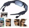 Black 4GB MP3 Headset Sunglasses 4GB MP3 Player